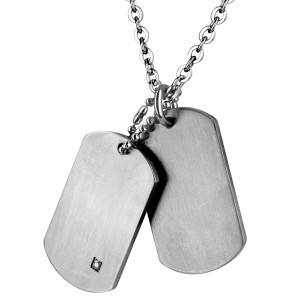 Dogtags i Rustfrit st�l.
