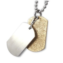 Dog tags - Gold/silver.