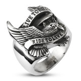 "Fashion ring i St�l ""Eagle"""