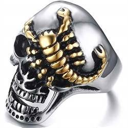 skull skorpion bikerring