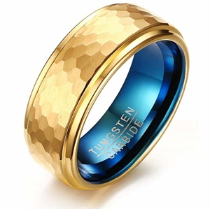 Duetone tungsten carbide ring