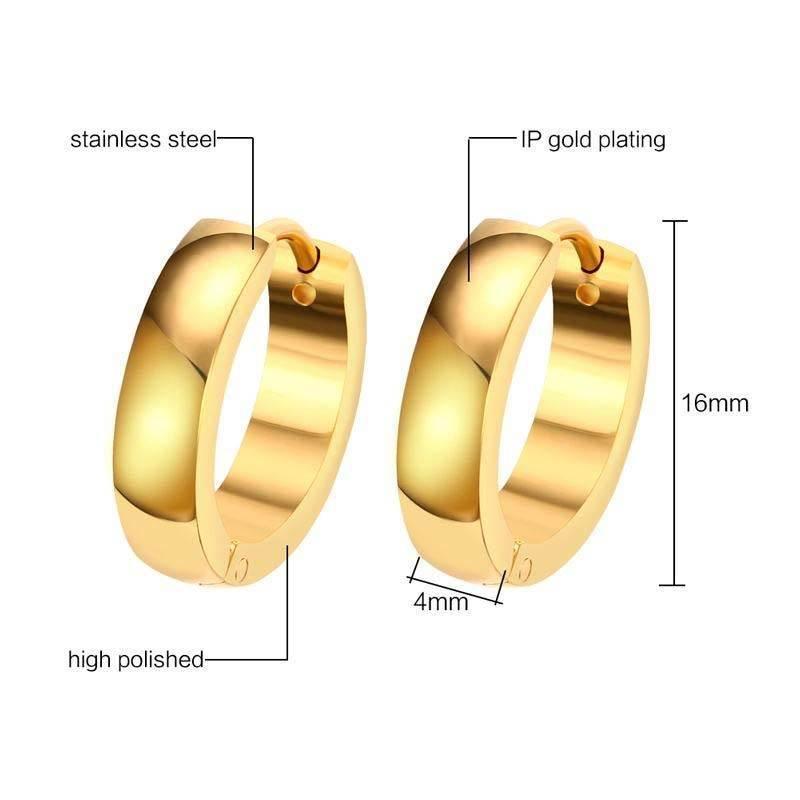 guld øreringe til mænd