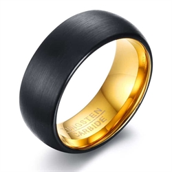 Gold/Black tungstenring