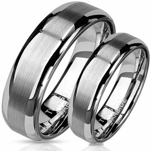"Carbide tungsten forlovelse/vielsesring ""Trust"""