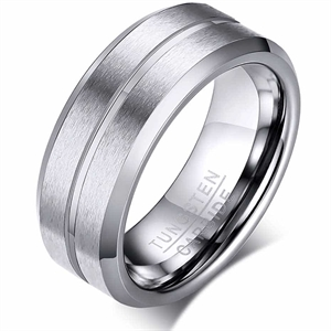 Thin line tungstenring