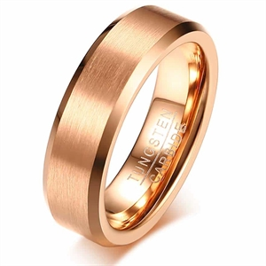 Rosegold tungsten carbide ring PFX10