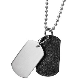 """Dogtags"" Silver/Black."