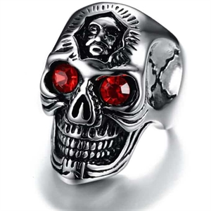 Red eye skull - Bikerring
