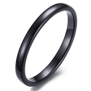 Tynd blackcoatet tungstenring