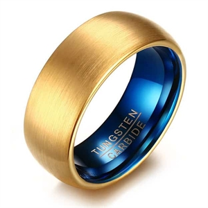 Gold/Blue tungstenring